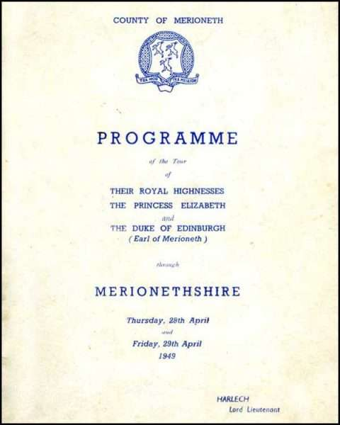 The 1949 Royal Tour Programme Cover