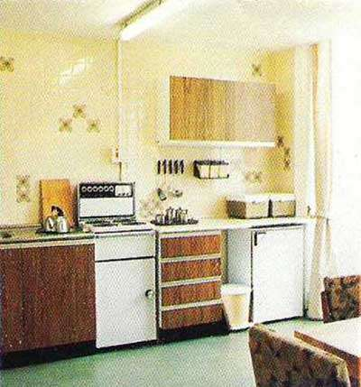 One of the 1980s Apartment Kitchens at Nannau