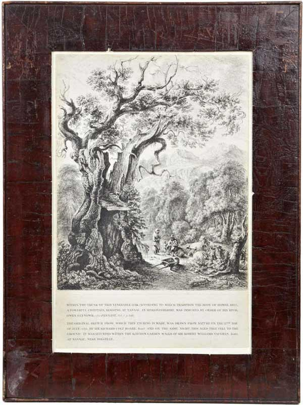 Print of the etching included with the Table. The same wood is used.