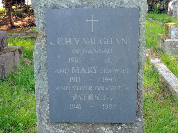 The Grave of C.H.V Vaughan (d.1976) at Llanfachreth