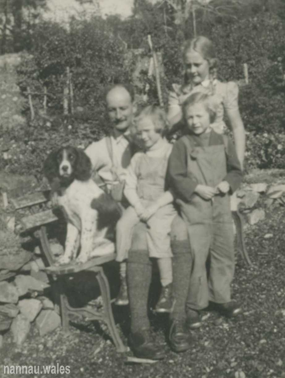 The Brigadier with his Family at Dolrhyd in 1946. Photo courtesy of Philip Nanney Williams