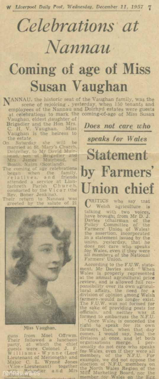 Newspaper Article - Coming of Age of Miss Sarah Vaughan 1957