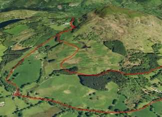 The Nannau Deer Park Walk Plotted on Google Earth