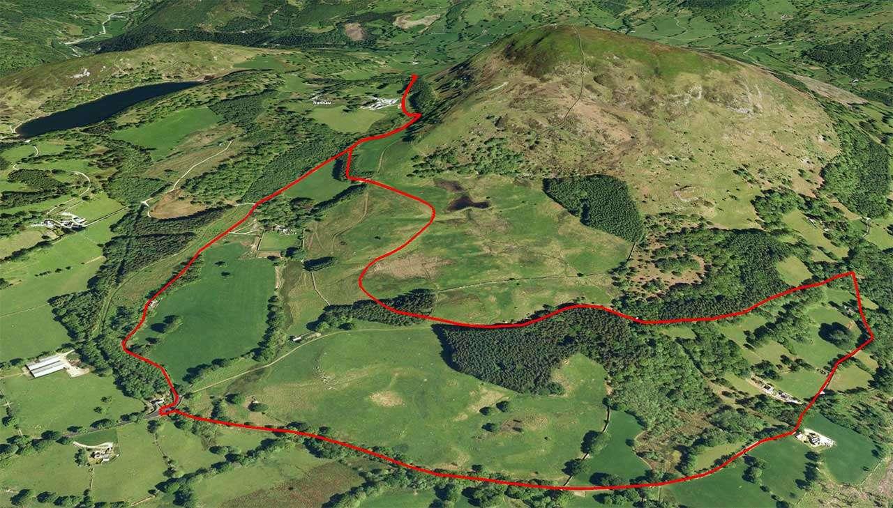 Nannau Deer Park Walk (Google Earth)