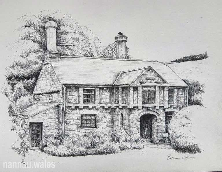 Efail Fach (Drawing by Bethan Rowlands Wiffen)