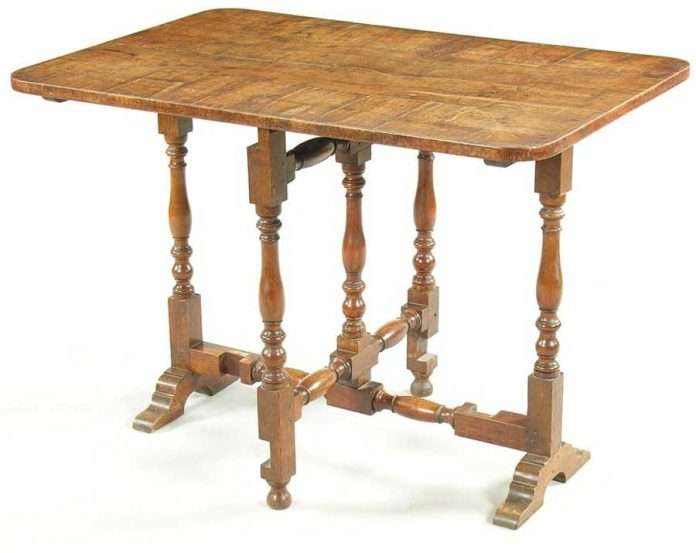 An Oak Folding Top Table from Nannau