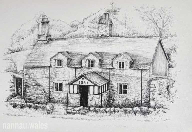 Garth Bleiddyn (Drawing by Bethan Rowlands Wiffen)