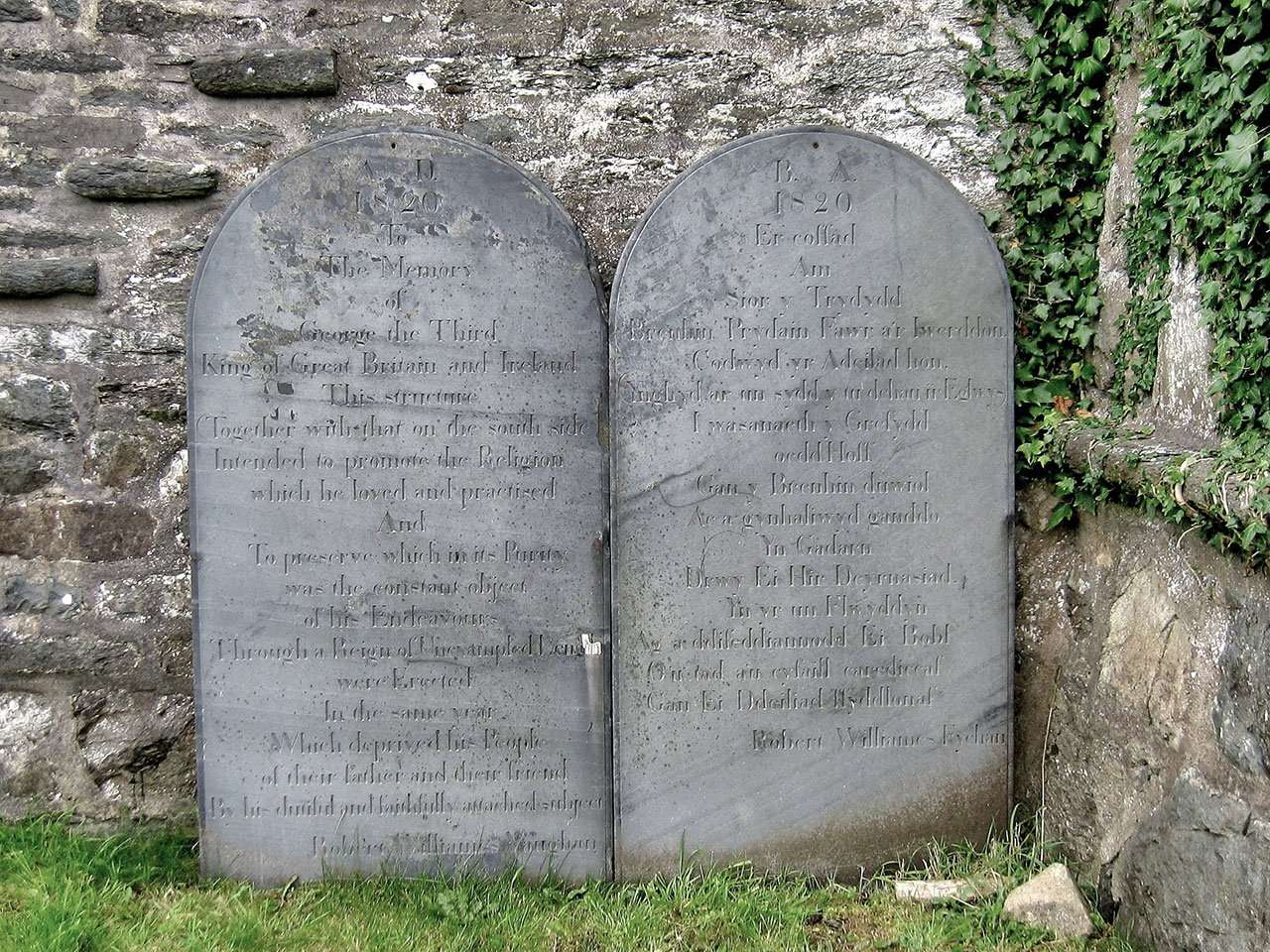 George III Memorial Stones in Llanfachreth Churchyard - Photo Courtesy of David Brown