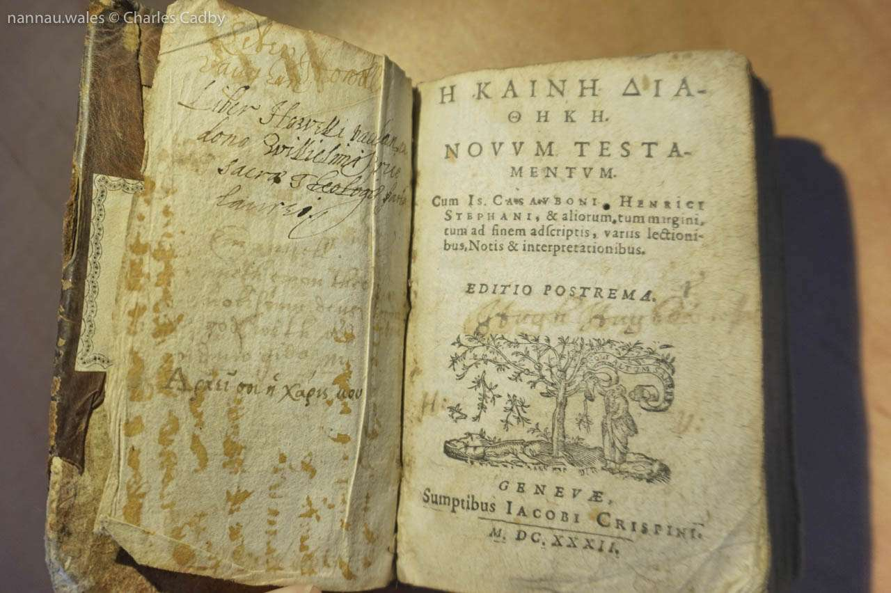 Howell Vaughan's Greek New Testament from 1632