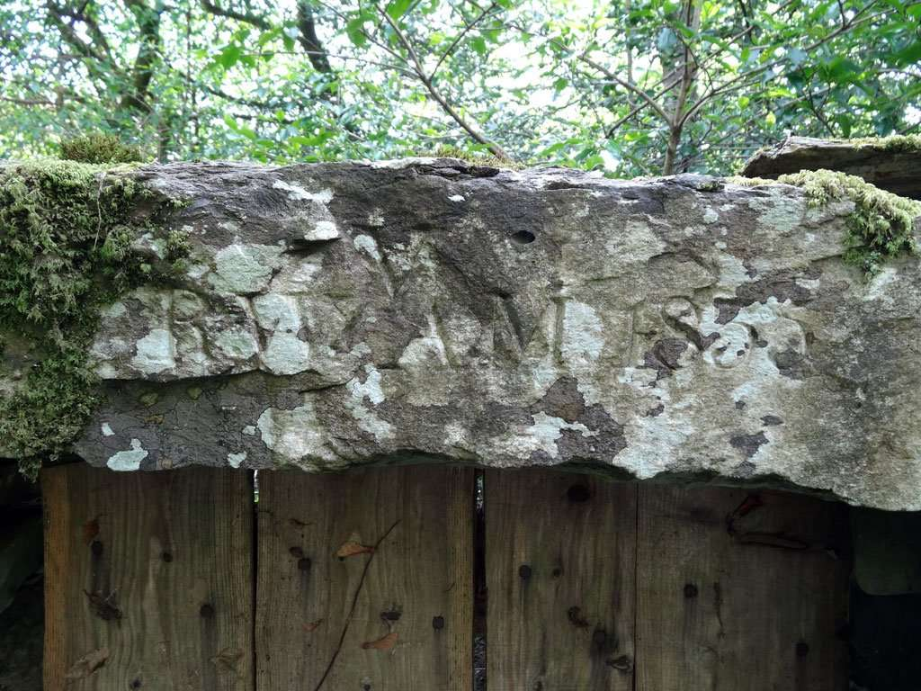 Close-up of the Lintel above the Door to Yr Hen Ardd (The Old Garden)