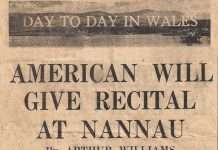 American Will Give Recital at Nannau