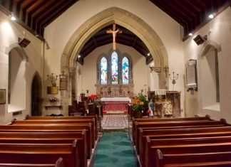 The Interior of St. Machreth Church, Llanfachreth