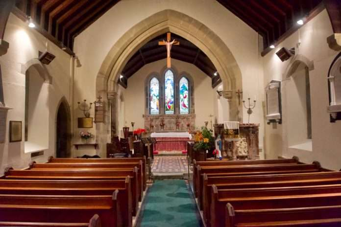 The Interior of St. Machreth Church, Llanfachreth