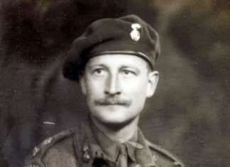 Lt. Col. C.H.V. Pritchard, Royal Welsh Fusiliers. Photo courtesy of Philip Nanney Williams