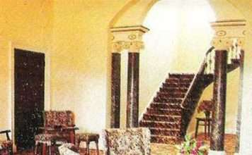 Nannau's Main Hall with Adams Staircase as it was in the 1980s