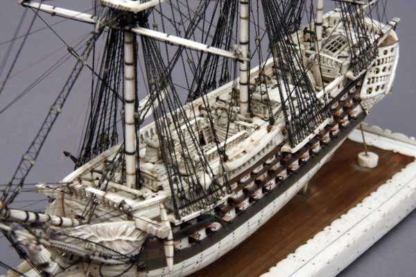 The Man-o-Ware ship made by prisoners of the Napoleonic wars