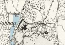 1887 Map of Nannau