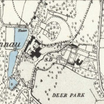 1887 Map of Nannau