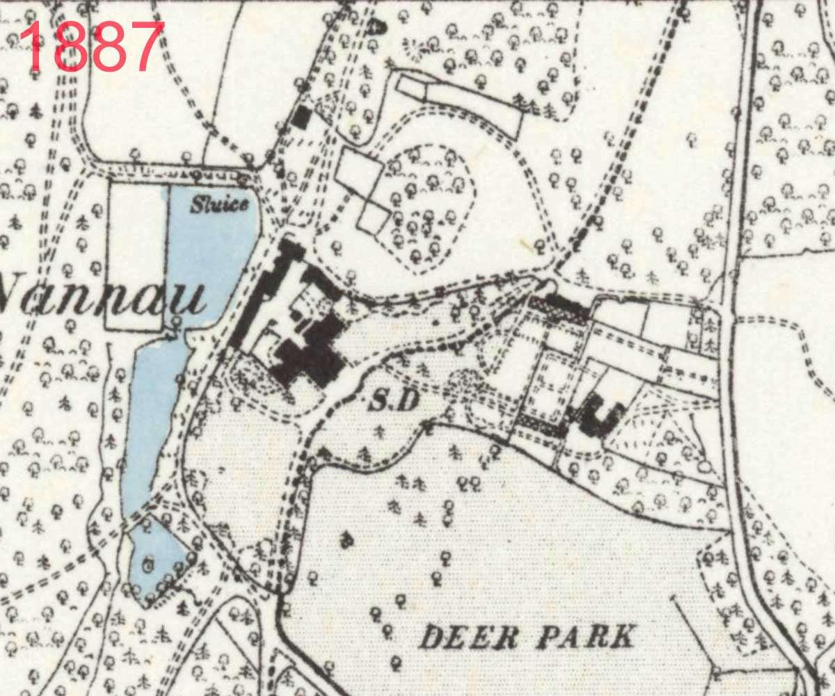 1887 Map of Plas Nannau Hall