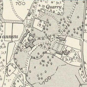 1900 Map of Nannau