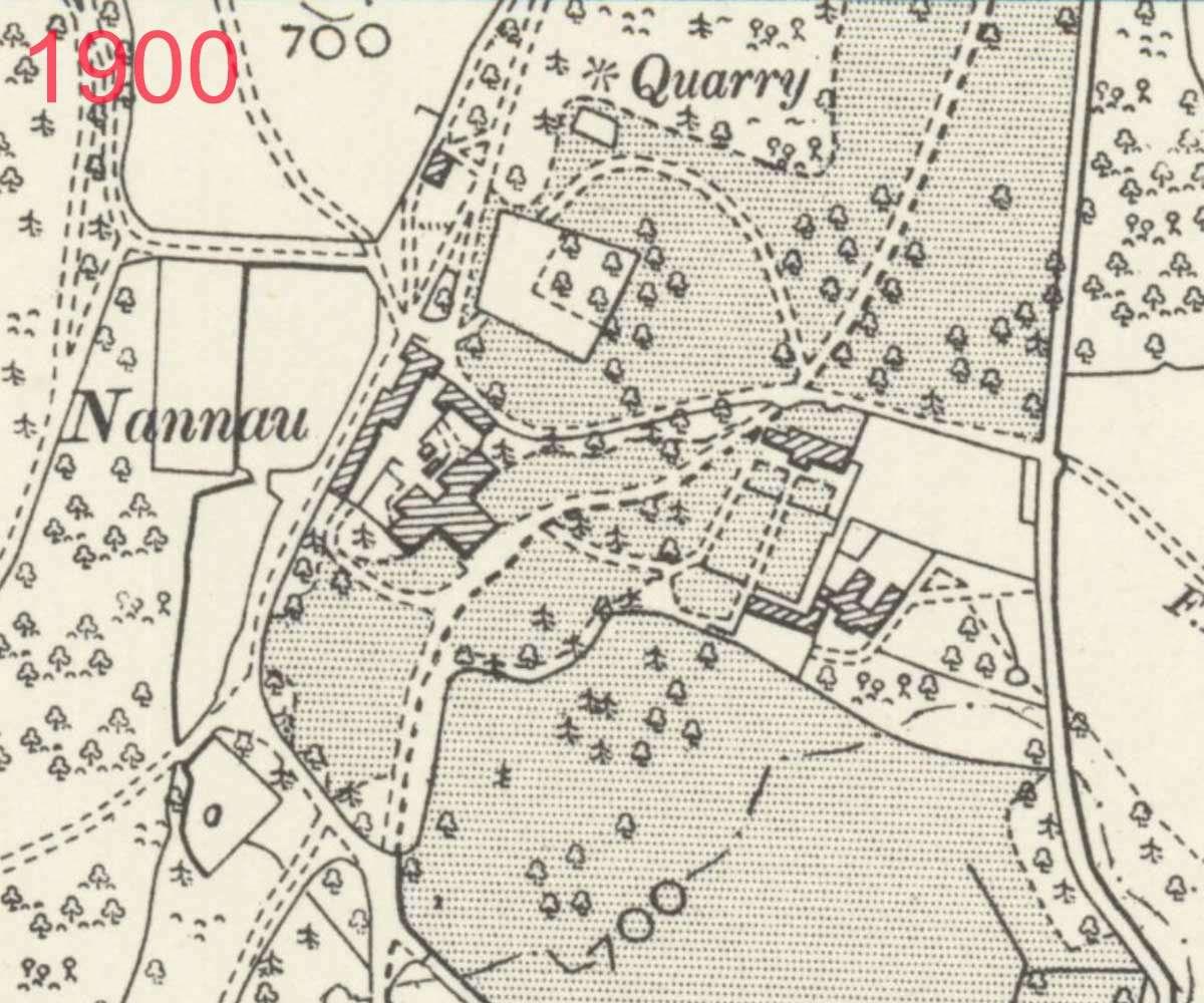 1900 Map of Plas Nannau Hall