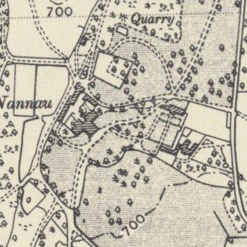 1938 Map of Nannau