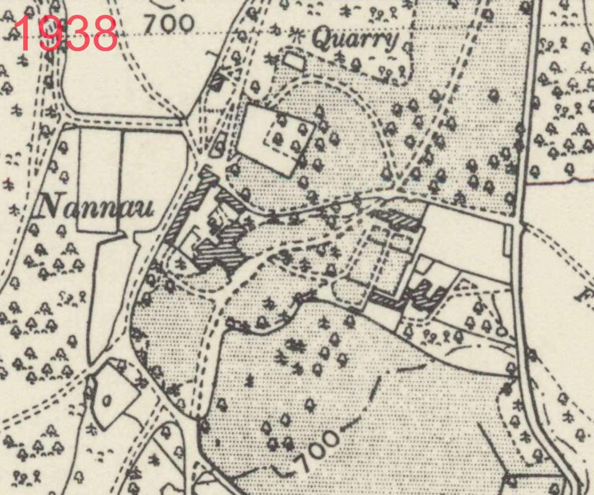 1938 Map of Plas Nannau Hall