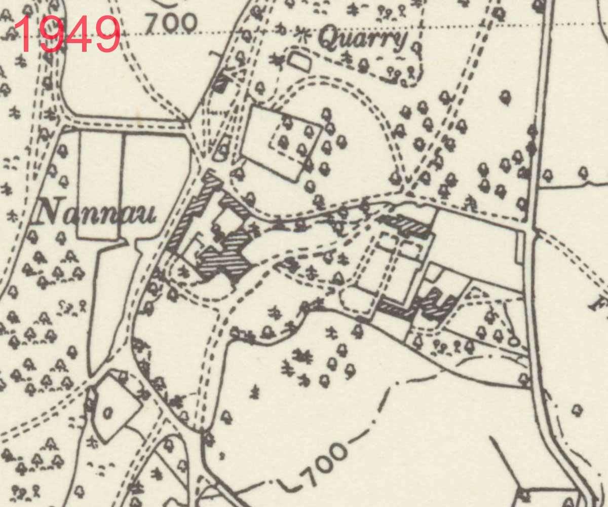 1949 Map of Plas Nannau Hall