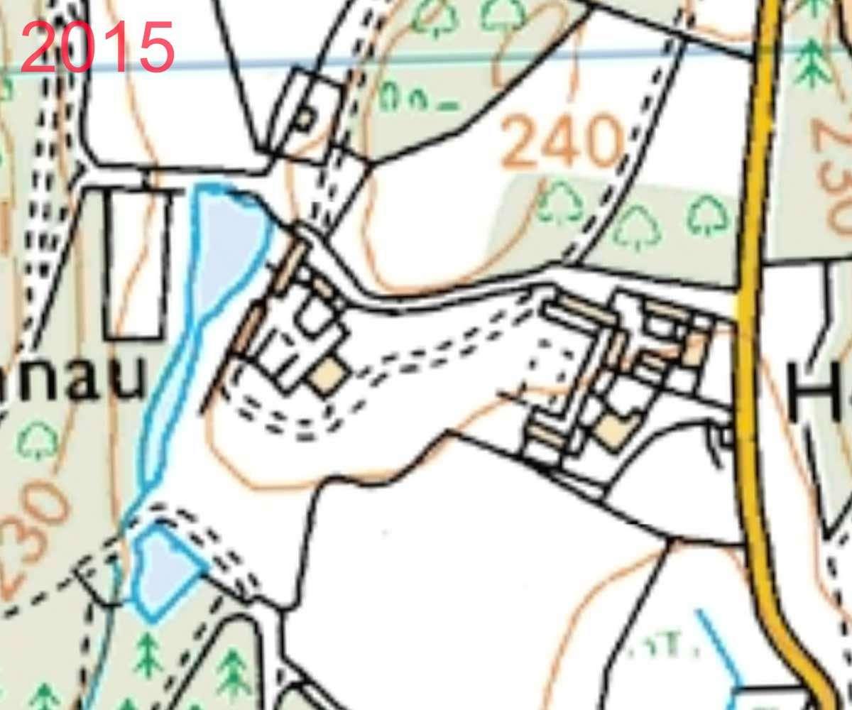 2015 Map of Plas Nannau Hall