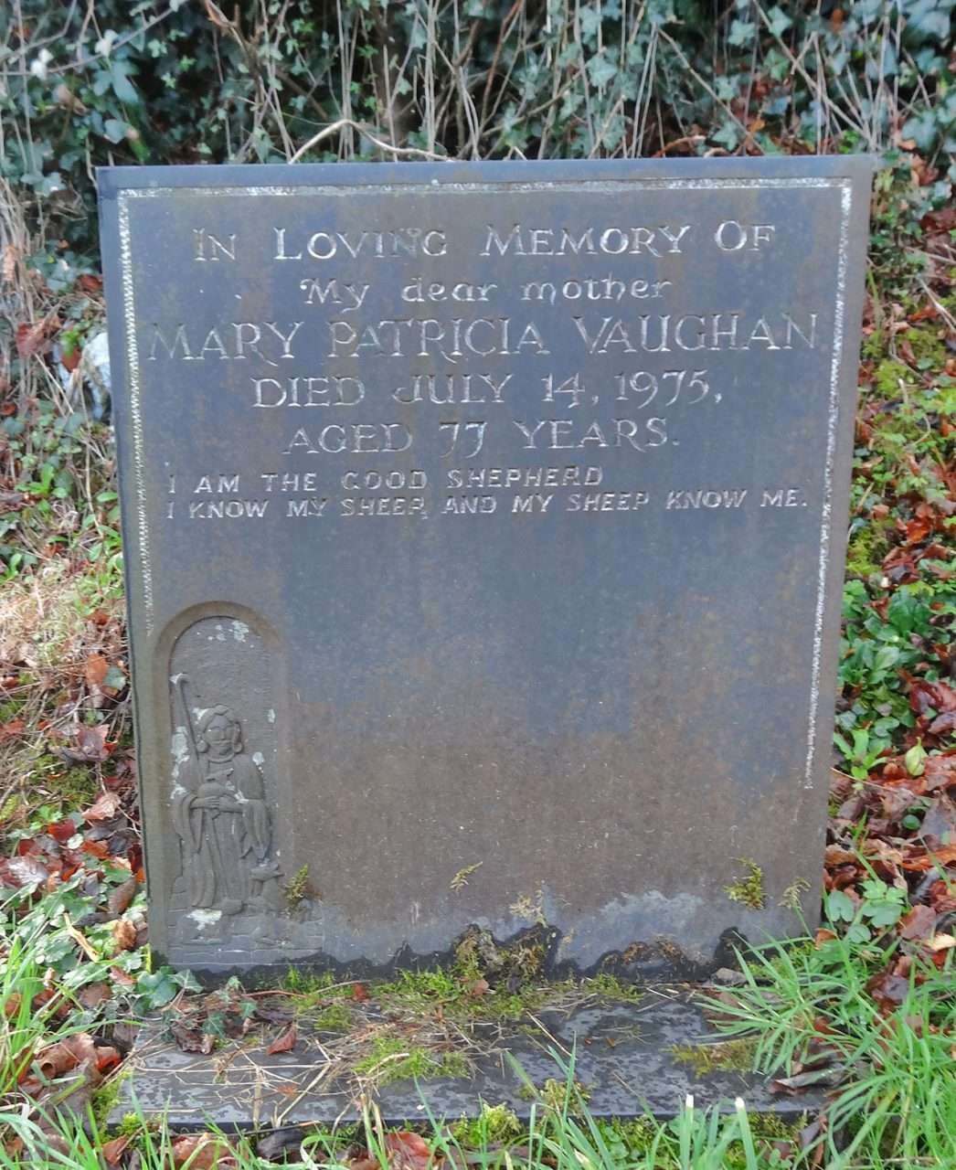 Mary Patricia Vaughan's Grave at Llanelltyd