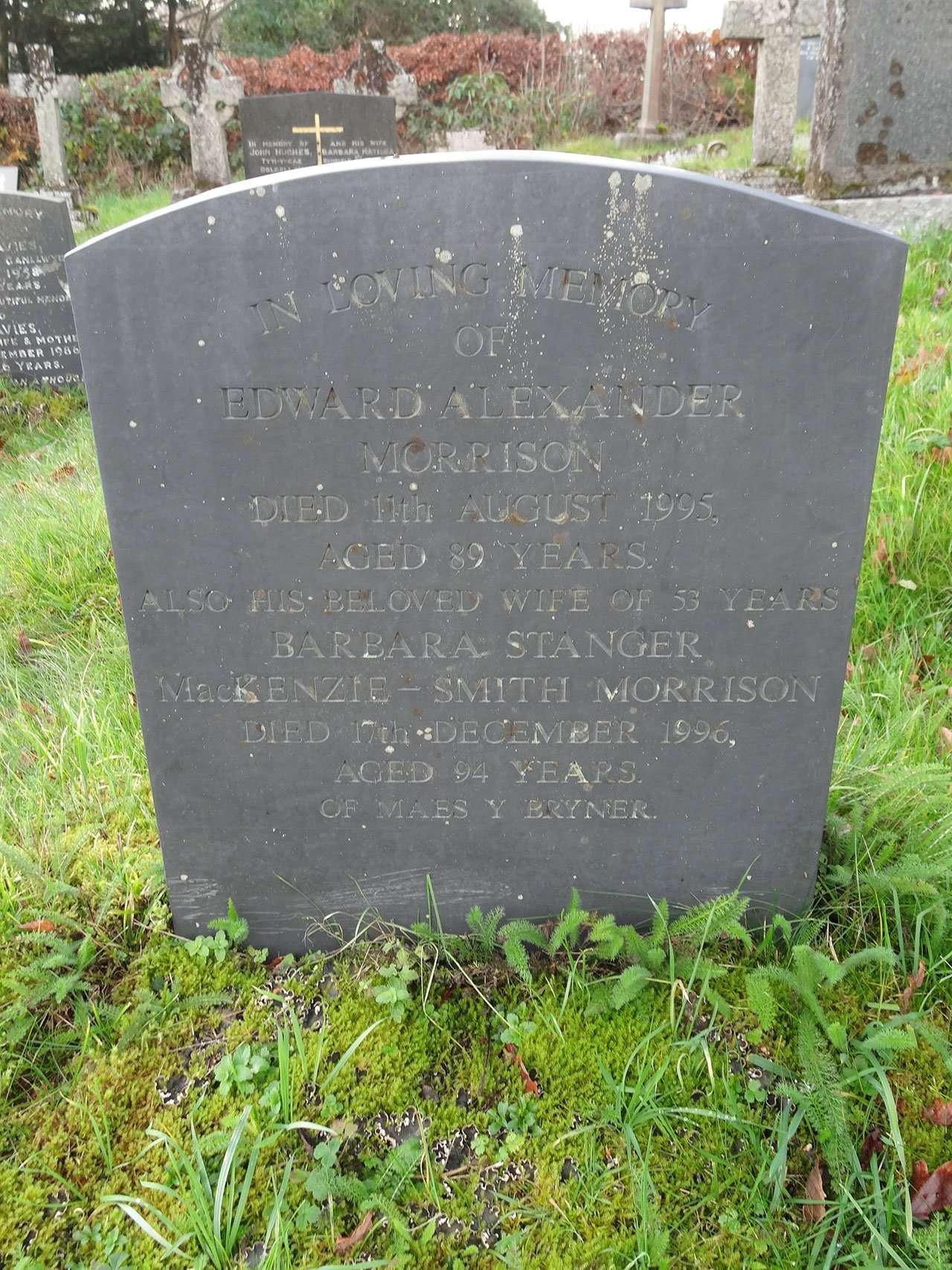 Morrison's Grave at Llanelltyd