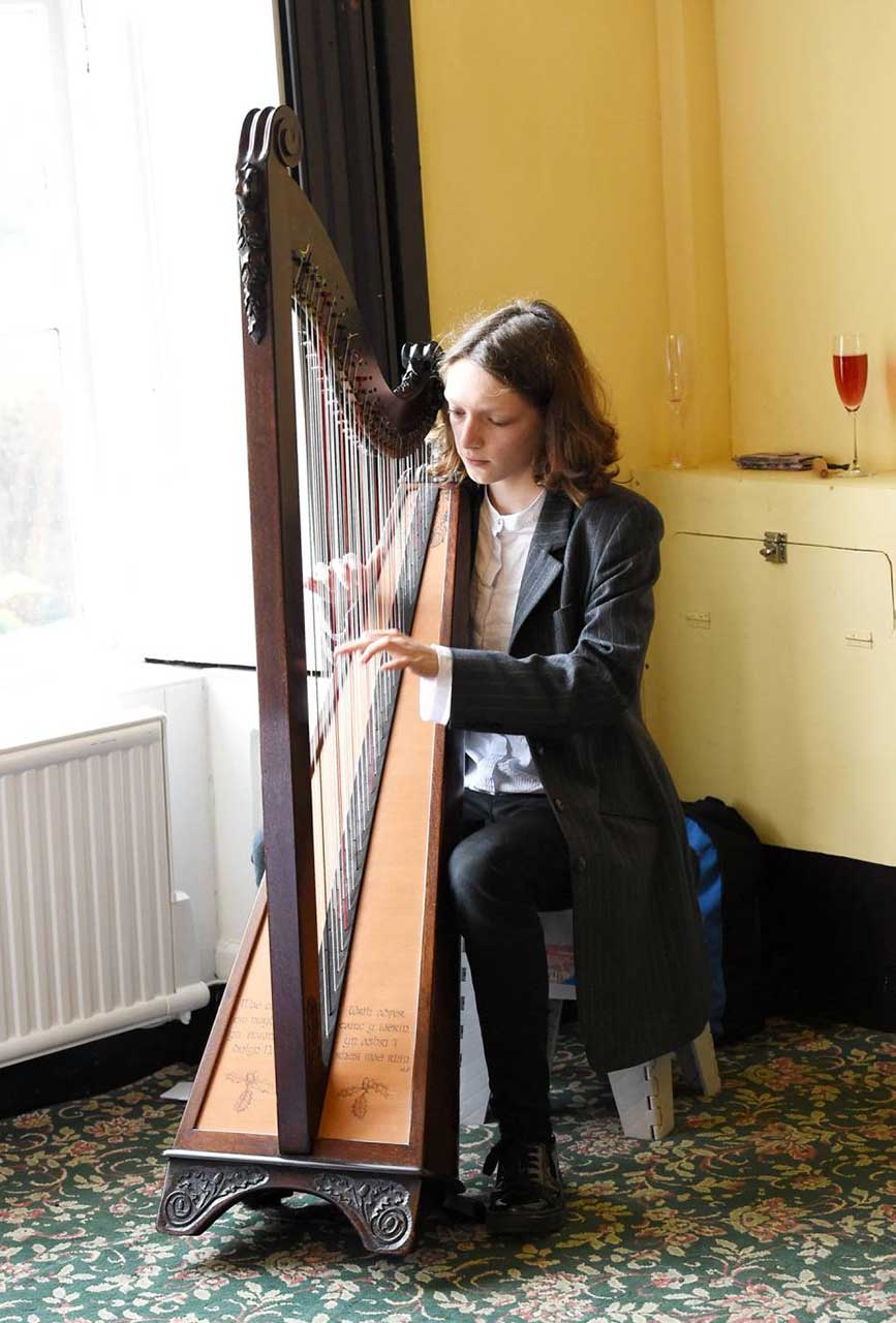 The harpist Cerys Havana