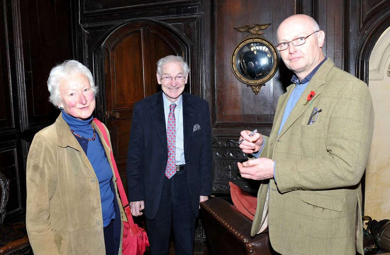 Mr & Mrs Janey Allen (née Vaughan) and Miles Wynn Cato (Owner of Welsh Art at Ludlow)