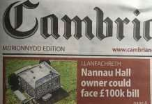 Nannau Hall Owner Could Face £100,000 Bill - Cambrian News 21st October 2021.