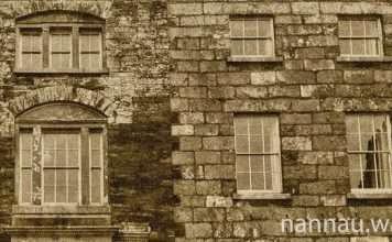 A Girl in the Window of Plas Nannau Hall in 1973