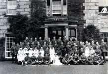 Nannau Red Cross Auxiliary Hospital 1918 - Photo Courtesy of Philip Nanney Williams