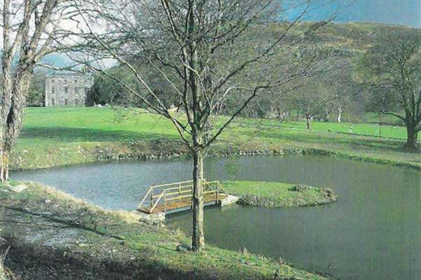 1998 Sales Brochure - View of one of the Three Garden Ponds
