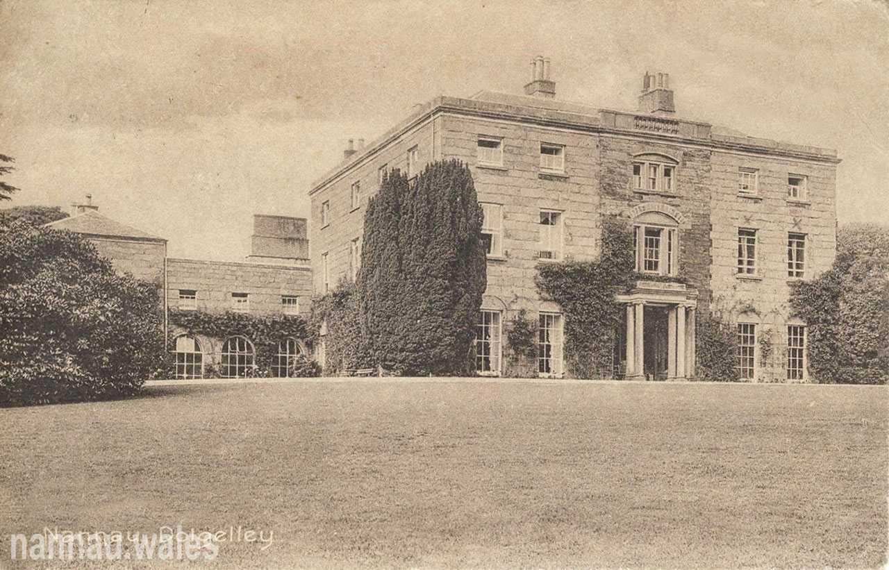 Nannau Postcard Showing the Left Pavilion Wing