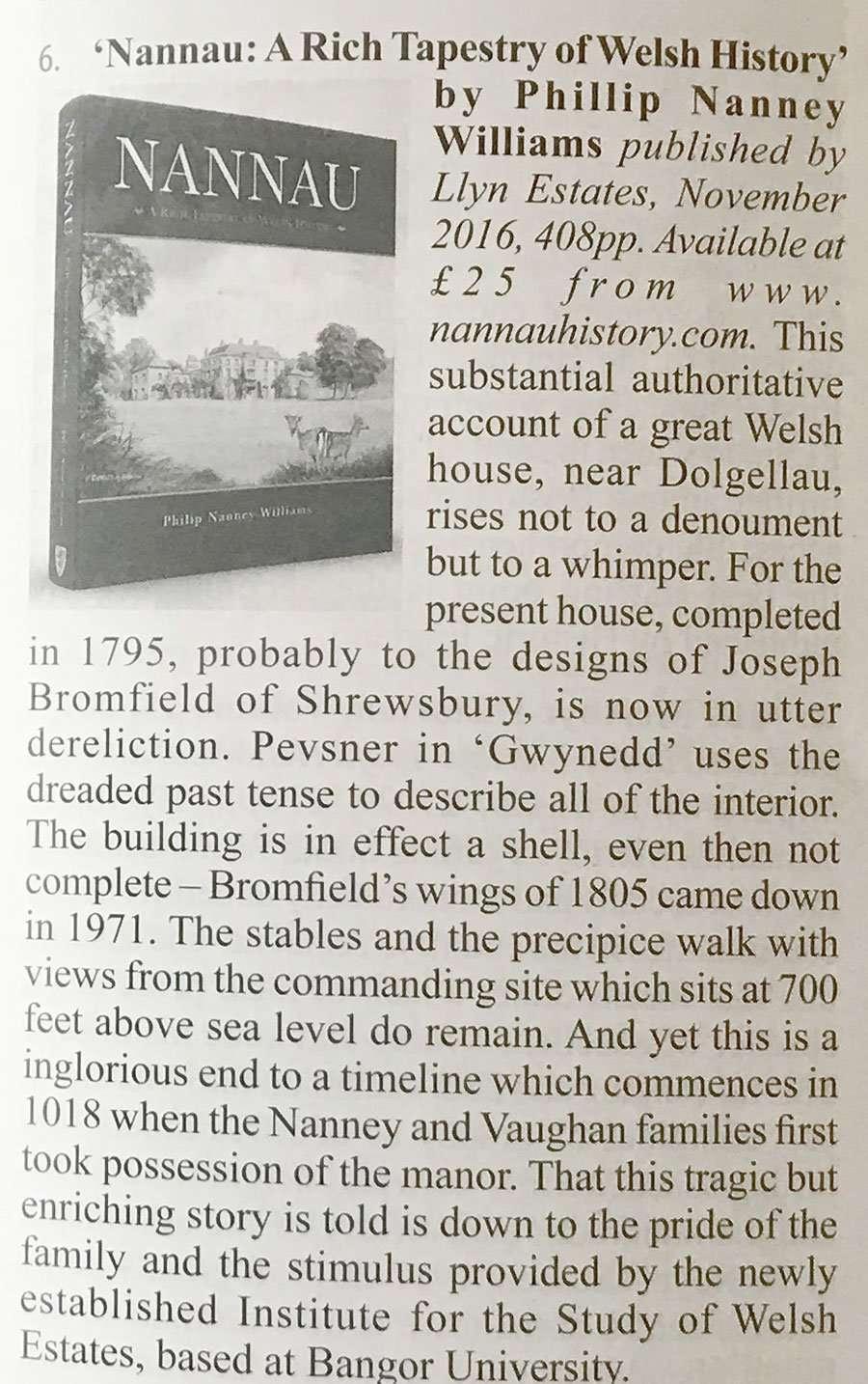 Nannau Book Review - The Magazine of the Friends of Friendless Churches