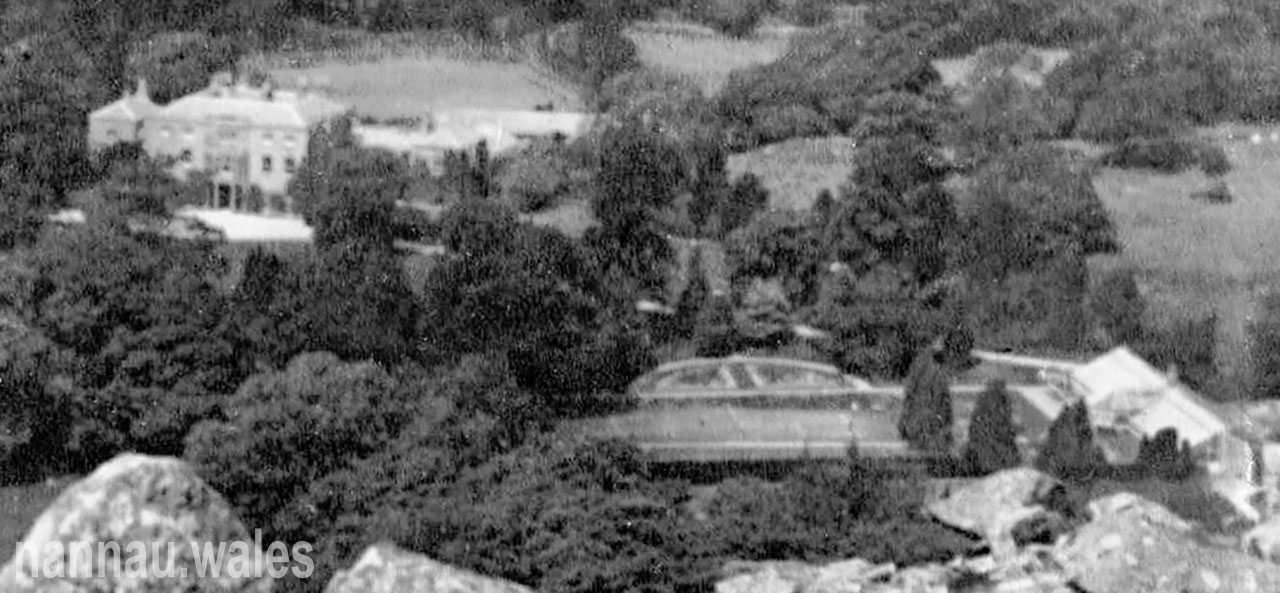 Nannau from Foel Offrwm in 1918. Photo courtesy of Philip Nanney Williams
