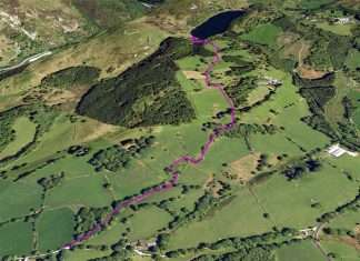 The Pandy Bach Walk Plotted on Google Earth