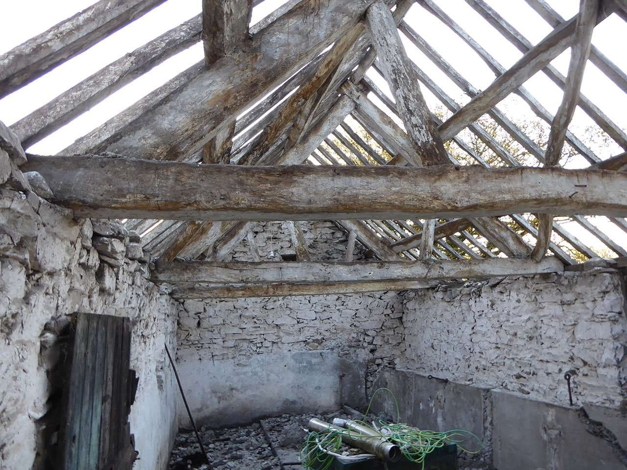 Pen-y-Cefn Uchaf - Roof Timbers in 2018