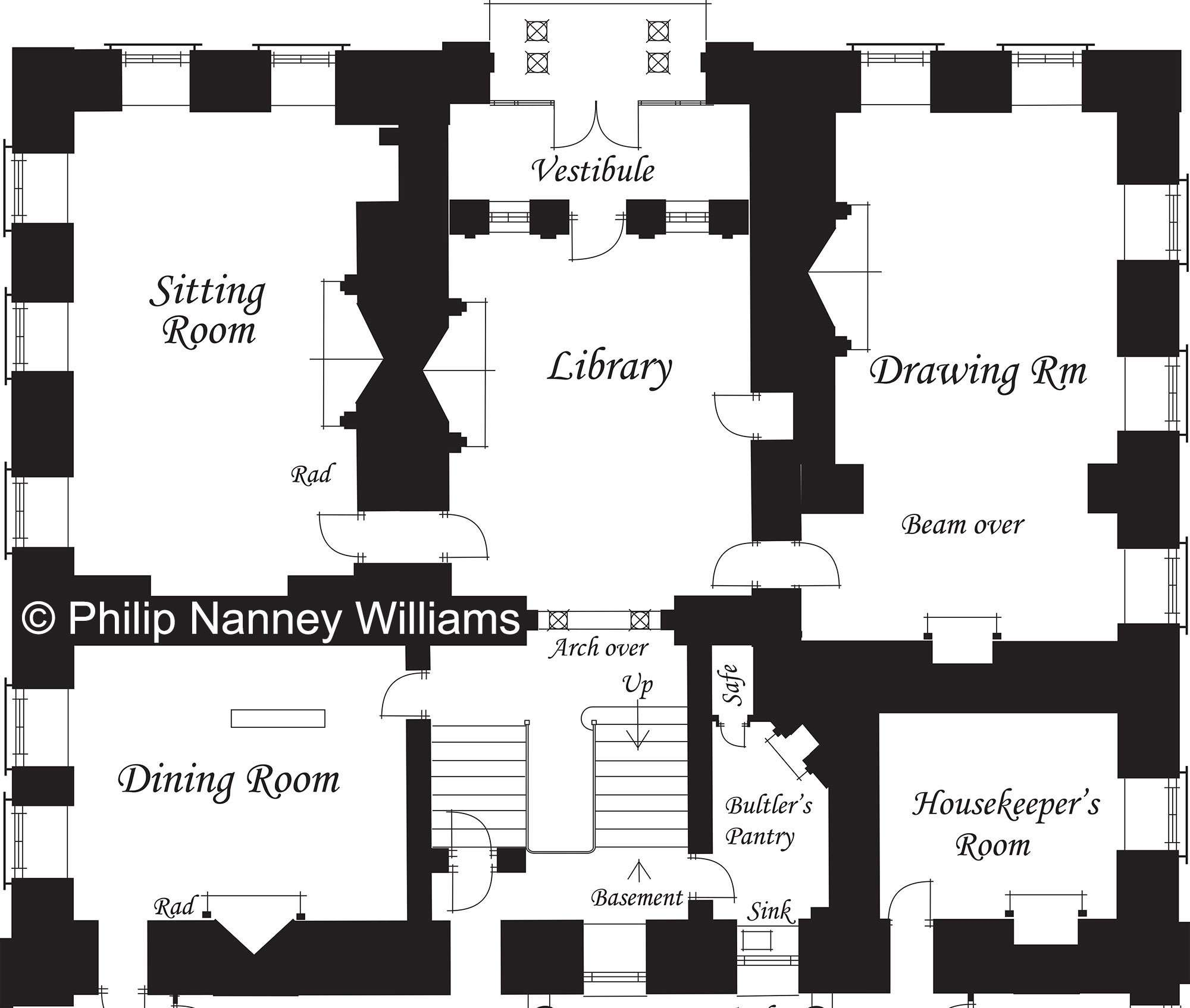 Ground Floor (without the Pavilion Wings) - © Philip Nanney Williams