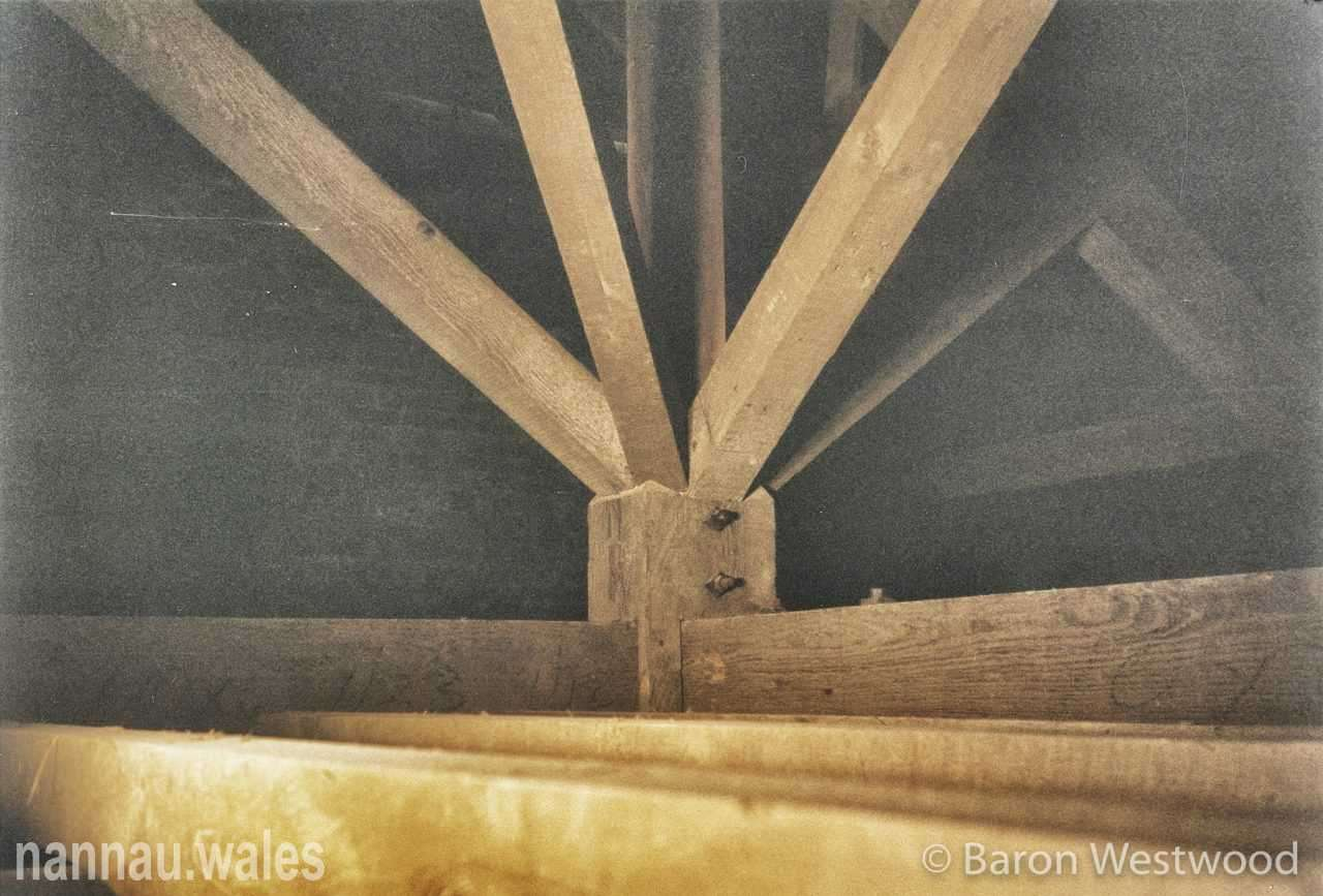 Plas Nannau Hall Roof Trusses - 31st January 1996. Photo © Baron Westwood.