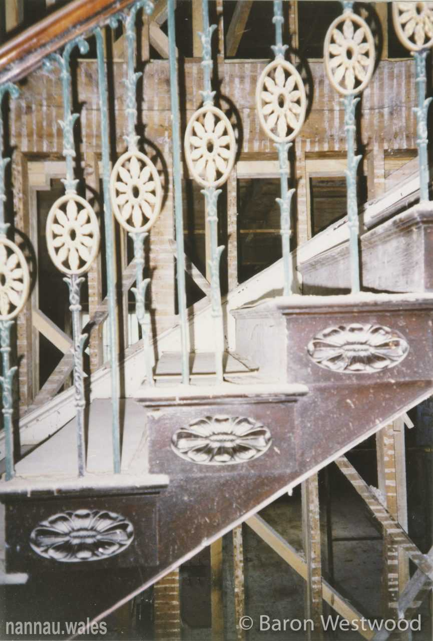 Plas Nannau Hall Staircase - 31st January 1996. Photo © Baron Westwood.