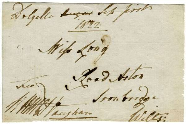 A Note from Sir Robert Williames Vaughan from 1822