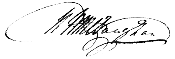 Robert Williames Vaughan Signature