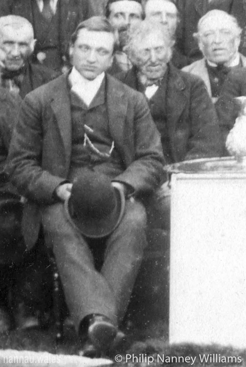 Robert Vaughan of Garthmaelan. Coming of Age Presentation Outside Plas Nannau Hall in 1887. Photo © Philip Nanney Williams.