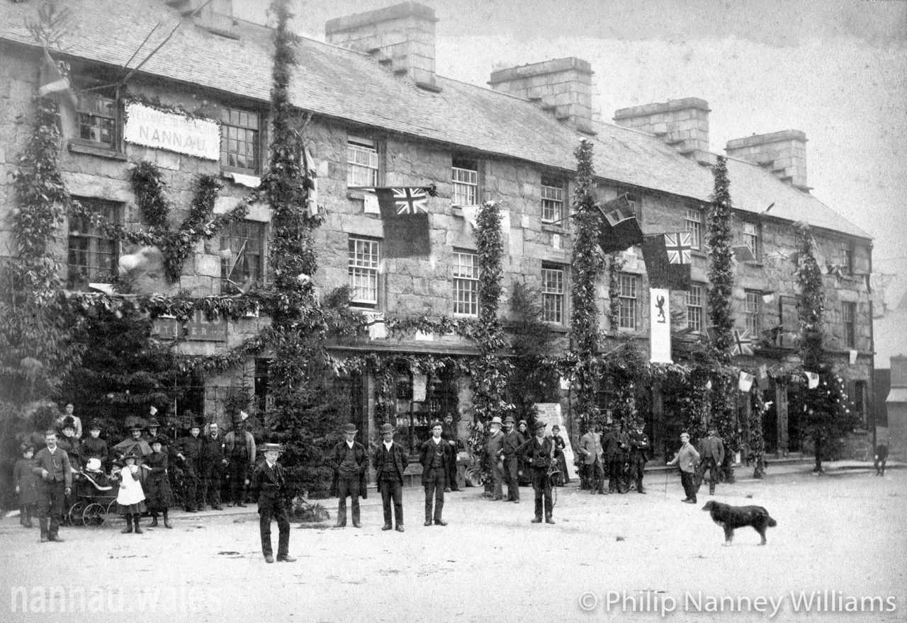 Robert Vaughan's Coming of Age Festivities in Eldon Square, Dolgellau, 1887. Photo © Philip Nanney Williams.