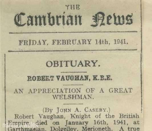 Robert Vaughan Obituary by John Caseby.